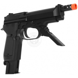 KWA Airsoft Full Metal M93R II Gas Blowback Pistol w/ 3-Round Burst