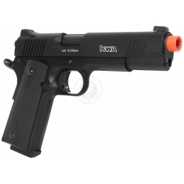 KWA Full Metal M1911 MARK 1 PTP Airsoft Gas Blowback Pistol in - BLACK