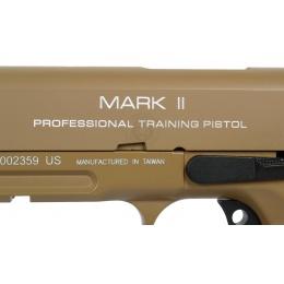 KWA Full Metal M1911 MKII PTP Gas Blowback Pistol w/ Railed Frame in Desert Tan
