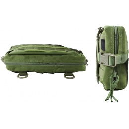 AMA Tactical Airsoft 1000D Thin Utility Pouch - OD GREEN