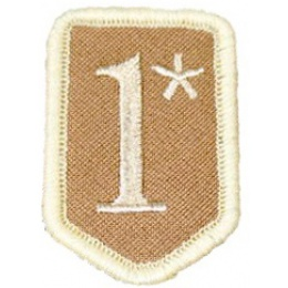 AMA Airsoft 1* Hook and Loop Patch - SAND