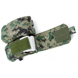AMA Airsoft Dual M4 Double Magazine Pouch - WOODLAND DIGITAL