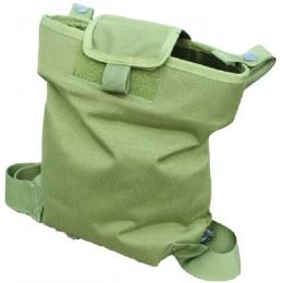 AMA Airsoft Magazine Drop Pouch w/ Modified Leg Strap - OD GREEN