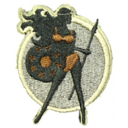 AMA Warrior Goddess Hook and Loop Patch Type: A