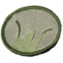 AMA Airsoft Military Hook and Loop Patch - Front Sight - OD