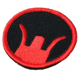 AMA Airsoft Military Hook and Loop Patch - Front Sight - RED