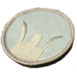 AMA Airsoft Military Hook and Loop Patch - Front Sight - TAN