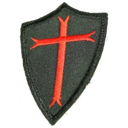 AMA Airsoft Poor Knights Embroidered Morale Patch - BLACK