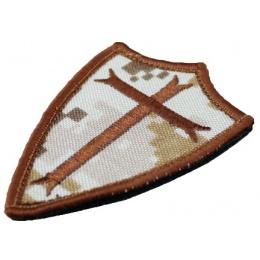 AMA Airsoft Poor Knights Embroidered Morale Patch - DESERT DIGITAL