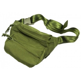 AMA Airsoft Cordura Low Pitched Tactical Fanny Pack - OD