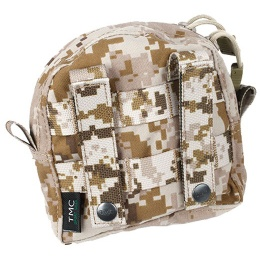 AMA Airsoft MOLLE BT Style Small Utility Pouch - DESERT DIGITAL