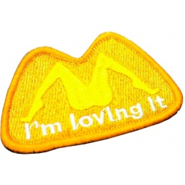 AMA Airsoft I'm Loving It Patch - ORANGE