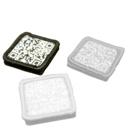 AMA Tactical Airsoft QR Code Hook and Loop Patch - BLACK