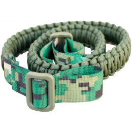 AMA 74 CM Versatile Paracord Survival Bracelet - WOODLAND DIGITAL