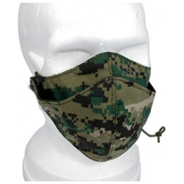 AMA Tactical Protective Half Face Mask - WOODLAND DIGITAL