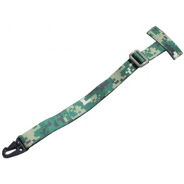 AMA Tactical MOLLE Attachment Sling w/ Buckle Clip - WOODLAND DIGITAL