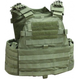 AMA EG Cordura Tactical Assault Vest - OLIVE DRAB GREEN