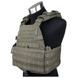 AMA EG Cordura Tactical Assault Plate Carrier - RANGER GREEN