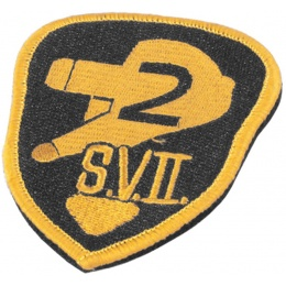 Airsoft Megastore Armory SVIII Hook and Loop Morale Patch - YELLOW / BLACK