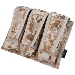 AMA Adaptive Vest System M4/M16 Triple Mag Pouch - DESERT DIGITAL