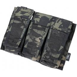 AMA Adaptive Vest System M4/M16 Triple Mag Pouch - CAMO BLACK