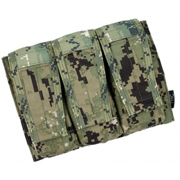 AMA Adaptive Vest System  M4/M16 Triple Mag Pouch - WOODLAND DIGITAL
