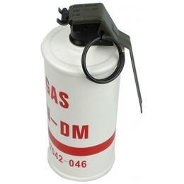 AMA Replica INERT CN-DM Riot Control Tear Gas Grenade - RED/WHITE