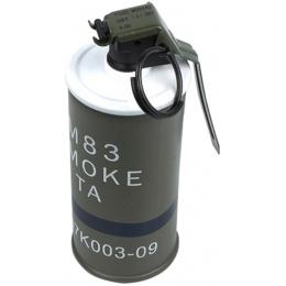 AMA Replica INERT AN/M83 Smoke Hand Grenade  - OLIVE DRAB GREEN