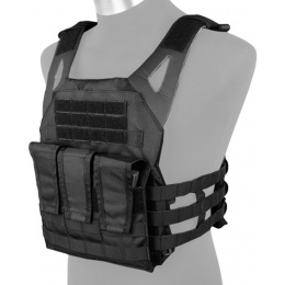 AMA Airsoft 1000D Plate Carrier w/ Dummy Plates Mag Pouches - BLACK