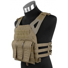 AMA 1000D Tactical Vest Dummy Plates Mag Pouches - COYOTE BROWN