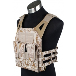 AMA 1000D Tactical Vest Dummy Plates Mag Pouches (Desert Digital)