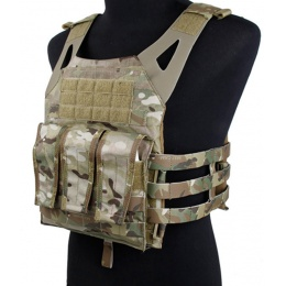 AMA Airsoft 1000D Plate Carrier w/ Dummy Plates Mag Pouches - CAMO