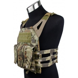 AMA Airsoft 1000D Tactical Vest w/ Dummy Plates Mag Pouches - MAD
