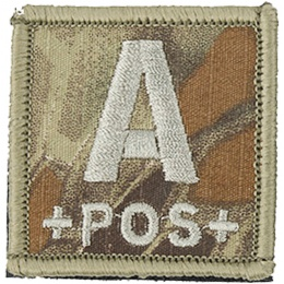 AMA Embroidered Blood Type A Pos Hook and Loop Morale Patch - MAD