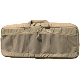 AMA Covert 36-inch Carbine Mesh Carrying Case w/ Ruck Straps - KHAKI