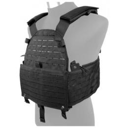 AMA 500D Nylon Hypalon Tactical Vest Laser Cut MOLLE Vest (Black)
