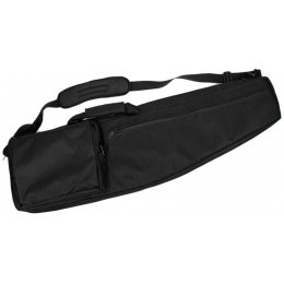 AMA 500 Denier Nylon 38-inch Rifle Case Zippered Compartments - BLACK