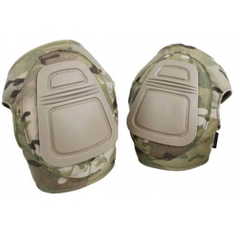AMA 500 Denier Nylon Fabric Adjustable Tactical DNI Knee Pad Set - CAMO