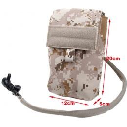 AMA 500D Nylon 27 oz Hydration Pouch w/ MOLLE Straps - DESERT DIGITAL