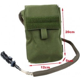 AMA 500D Nylon 27 oz Hydration Pouch w/ MOLLE Straps - OLIVE DRAB GREEN