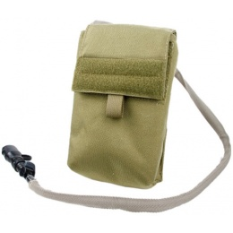 AMA 500D Nylon 27 ounce Hydration Pouch w/ MOLLE Attachment - KHAKI
