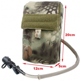 AMA 500D Nylon 27 oz Tactical Hydration Pouch w/ MOLLE Attachment - MAD