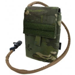 AMA 500D Nylon 27 oz Hydration Pouch w/ MOLLE Attachment - CAMO TROPIC
