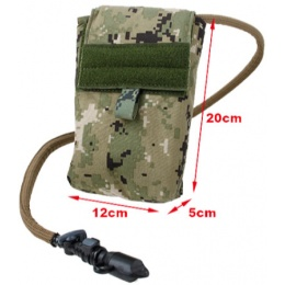 AMA 500D Nylon 27 oz Hydration Pouch w/ MOLLE Straps - WOODLAND DIGITAL