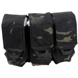 AMA Tactical QUOP Triple M4 500D Magazine Pouch - CAMO BLACK