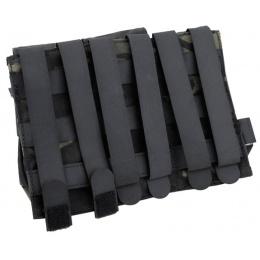 AMA Tactical QUOP Triple M4 500D Magazine Pouch - CAMO BLACK
