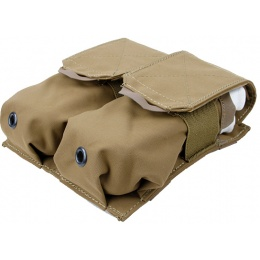 AMA Tactical QUOP Double Magazine Pouch - COYOTE BROWN