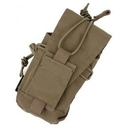 AMA Tactical 500D Nylon MOLLE MBITR Radio Pouch - KHAKI