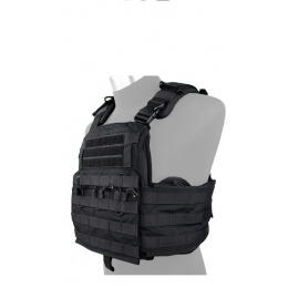 AMA Tactical QD Protective Nylon Cherry Plate Carrier  - BLACK
