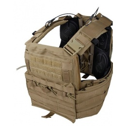 AMA Tactical QD Protective Nylon Cherry Plate Carrier - KHAKI